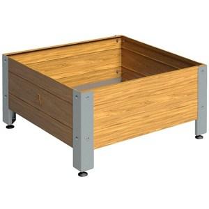 Mesa de cultivo de madera 72x72 cm 134 litros